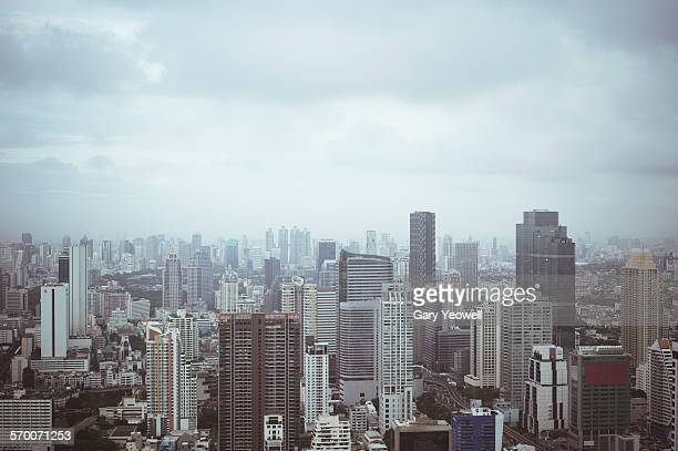 Elevated view across the City of Bangkok