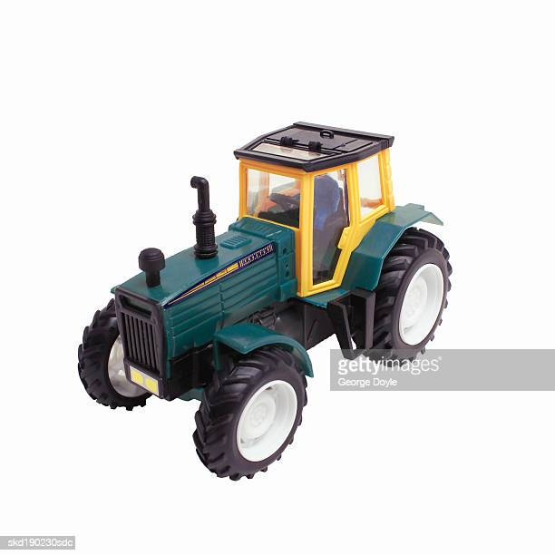 Elevated view of a toy tractor