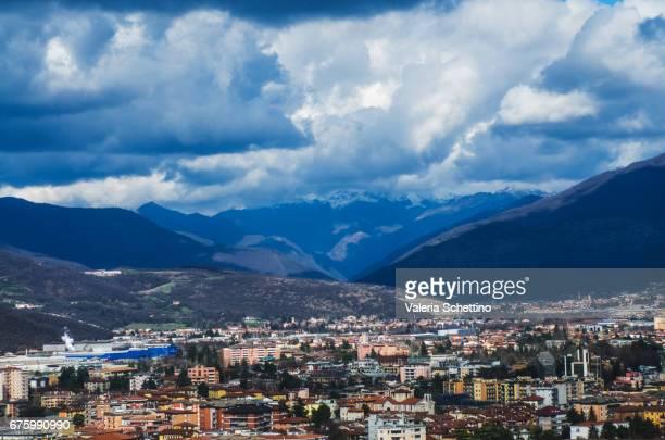 Elevated View of Brescia, Piemonte, Italy