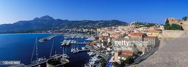 Elevated view of Calvi, Corsica