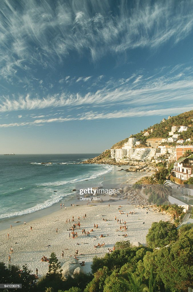 Elevated view of Clifton Beach, Cape Town, Western Cape Province, South Africa