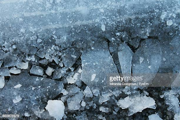 Elevated View Of Cracked Ice