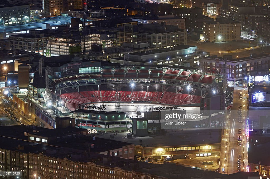 Elevated view of Fenway Park : Stock Photo