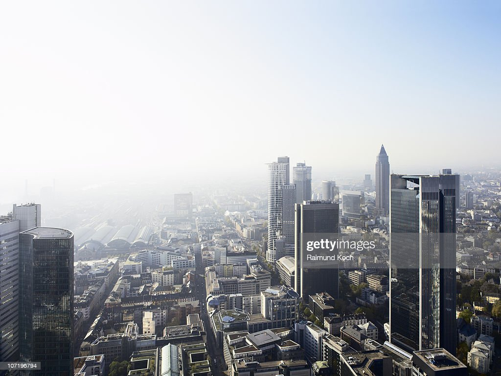 Elevated view of Frankfurt : Stock-Foto