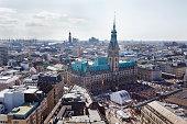 Elevated view of Hamburg