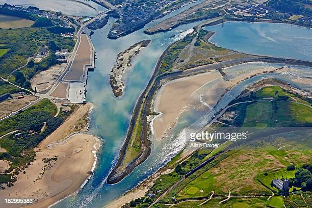 Elevated view of Hayle estuary