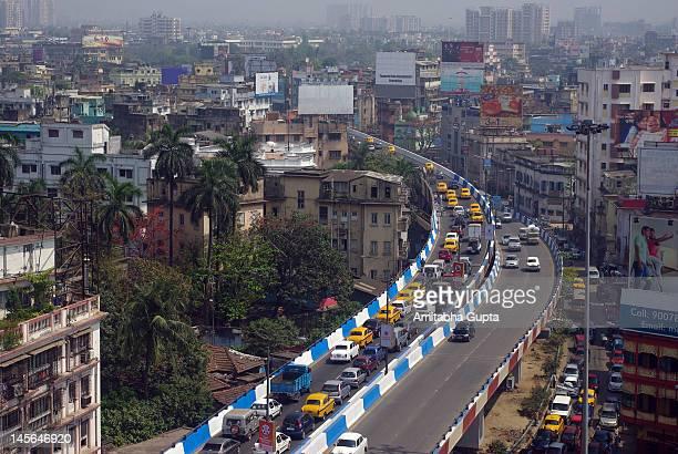 Elevated view of Kolkata