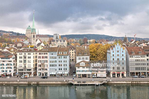 Elevated View of Lake Zurich Waterfront