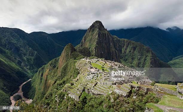 Elevated view of Machu Picchu, Peru
