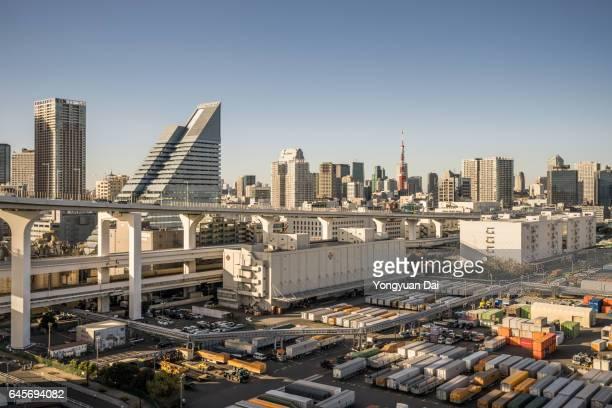 Elevated View of Minato-ku, Tokyo