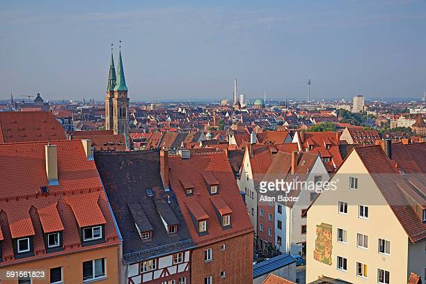 Elevated view of Nuremberg Aldstadt