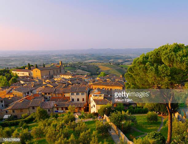 Elevated view of San Gimignano.