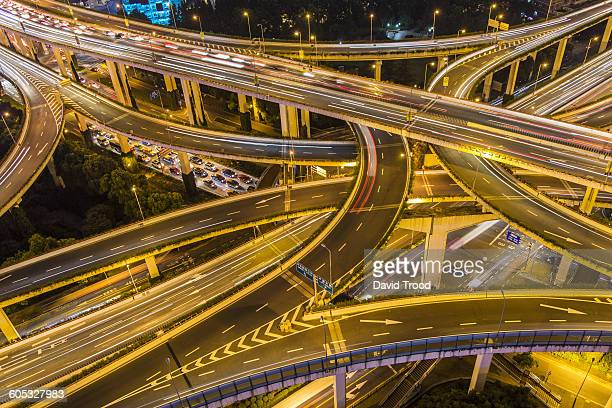 Elevated view of Shanghai Highway