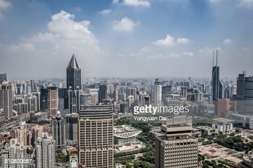 Elevated View of Shanghai