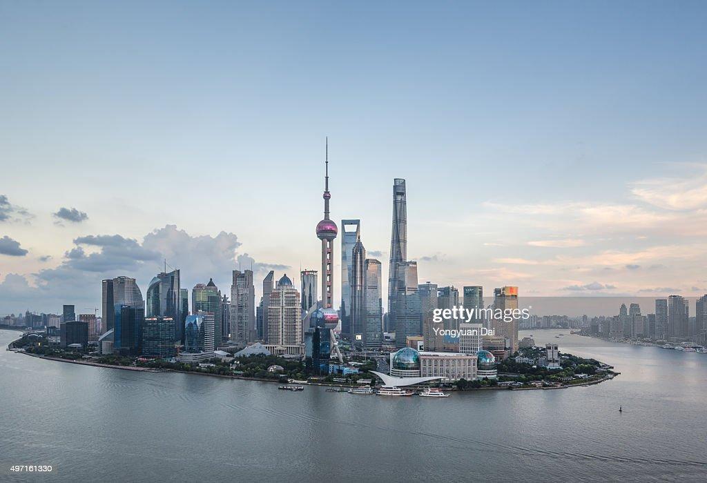 Elevated View of Shanghai Skyline