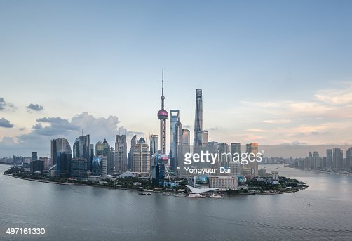 Elevated View of Shanghai Skyline