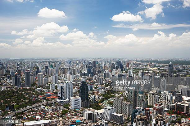 Elevated view of the city of Bangkok