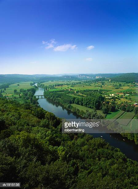 Elevated View of the Dordogne River, Aquitaine, France
