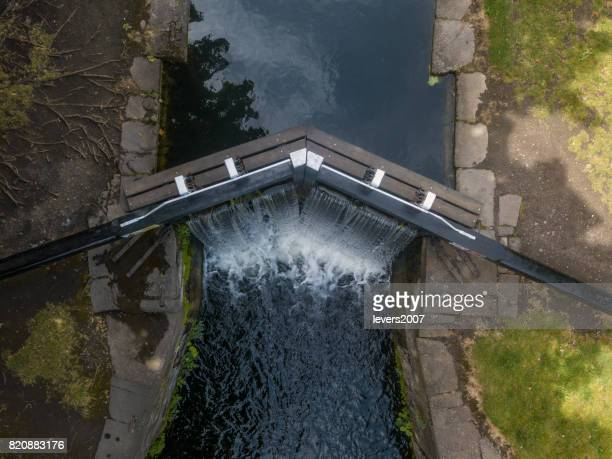 Elevated view of the Grand Canal, Dublin, Ireland