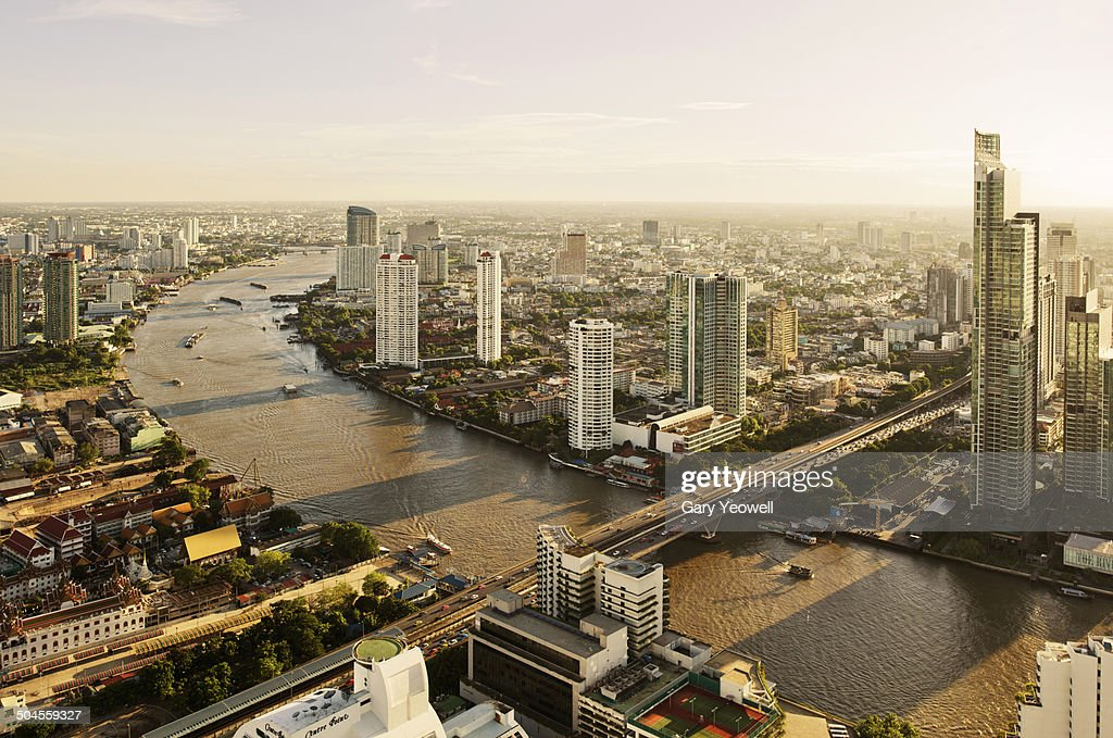 Elevated view over City of Bangkok
