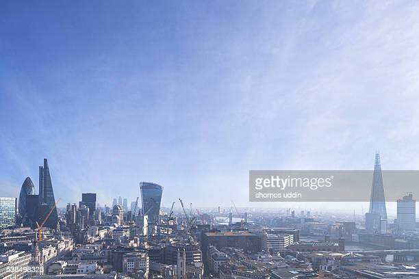Elevated view over City of London