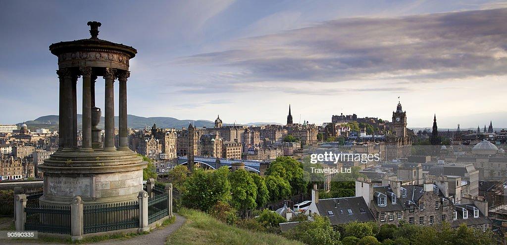 Elevated view over Edinburgh : Stock Photo