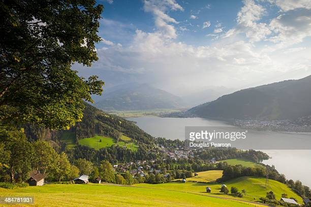 Elevated view over Lake Zell am See, Austria