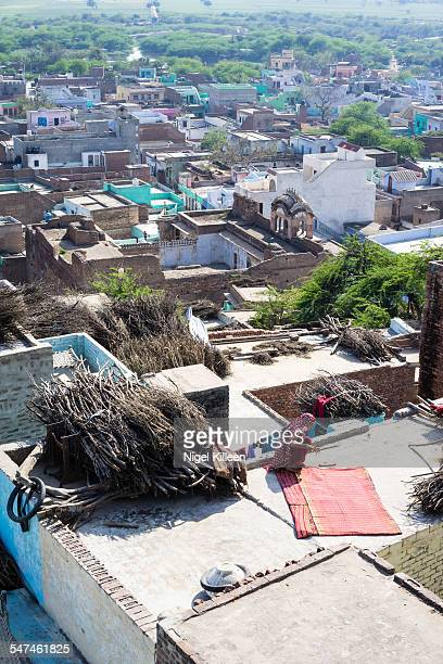 Elevated view over Nandgaon Nandgaon is a town in Mathura district of Uttar Pradesh and is popularly known as the birthplace of Hinduism and India's...