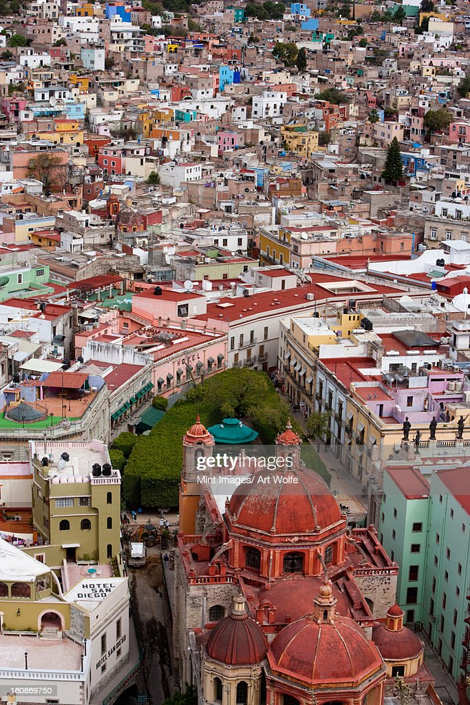 Elevated view over the city of Guanajuato in Mexico. : Stock Photo