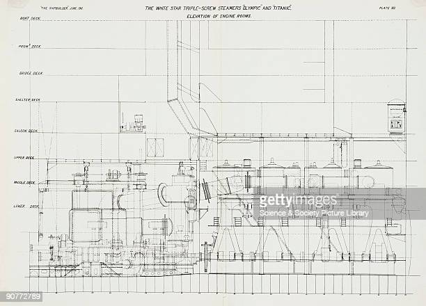 titanic drawings of the ship stock photos and pictures