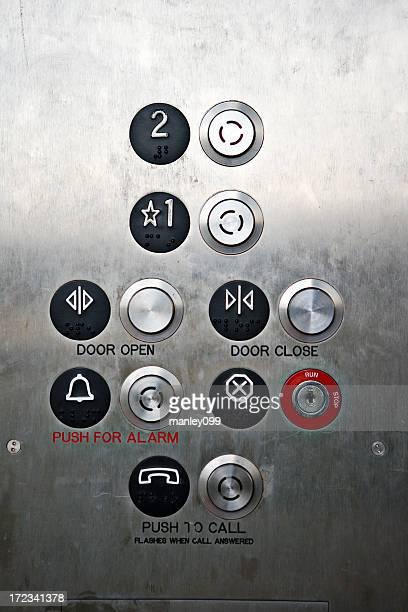 Aufzug-Knöpfen