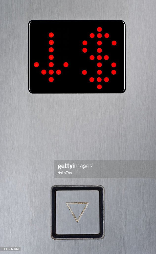 Elevator floor display : Stock Photo