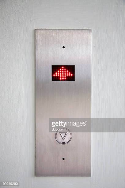 Elevator going up wall digital sign