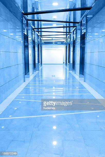 Elevator hallway in the office building