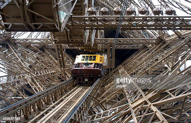 elevator of Eiffel Tower, Paris France