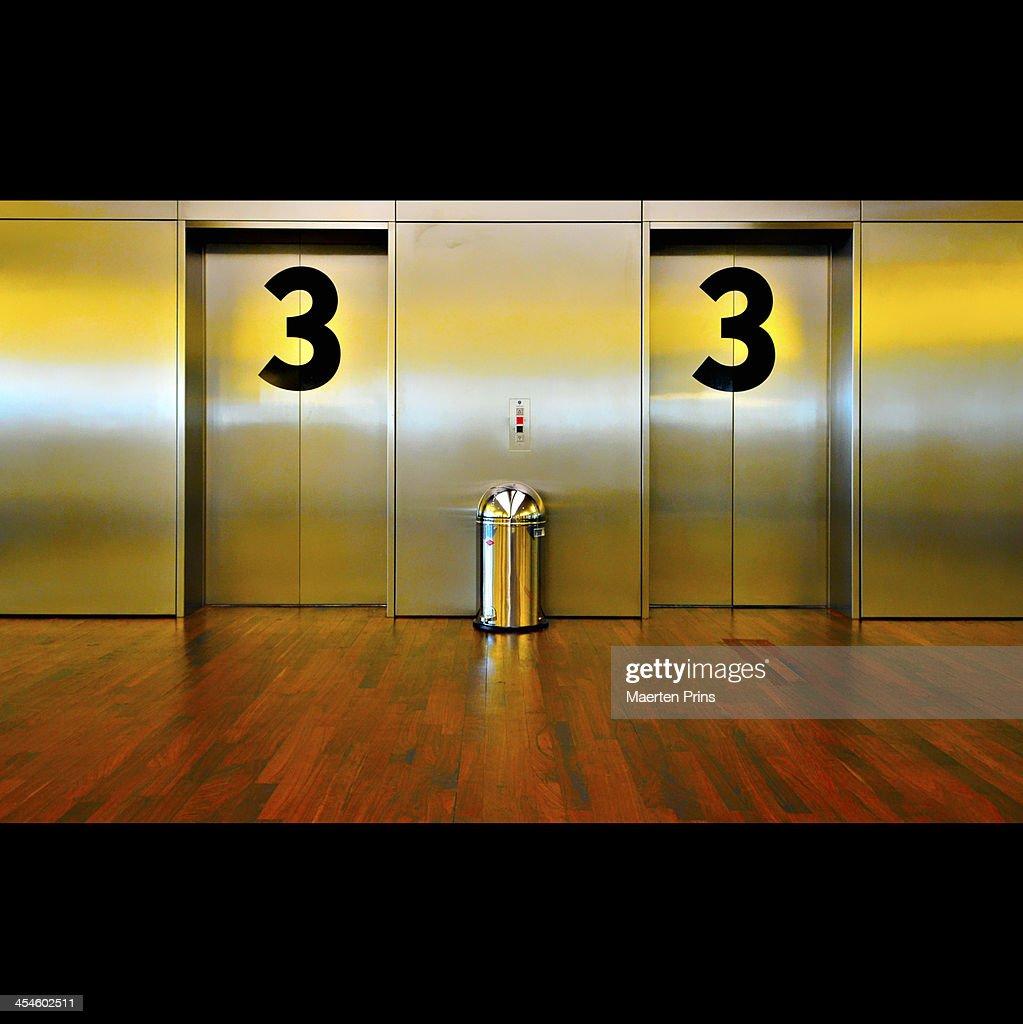 High Quality Elevator Third Floor : Stock Photo