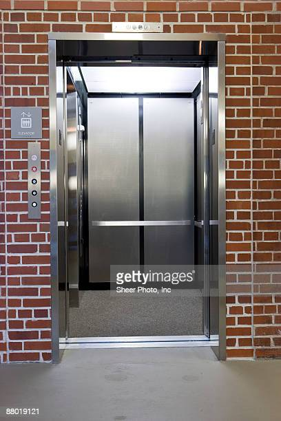 Elevator with open door