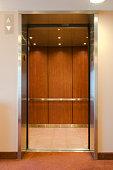 Elevator with open doors