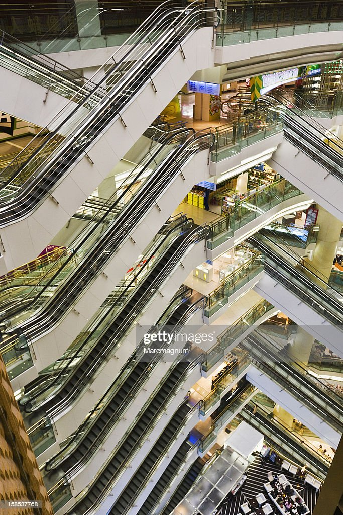 Elevators in a Shopping Center : Stock Photo