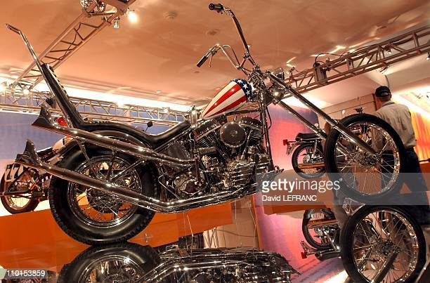 Eleven of the most amazing motorbikes at the Rockefeller Center Motorcycle Show in New York United States on April 02 2002 In photo Harley Davidson...