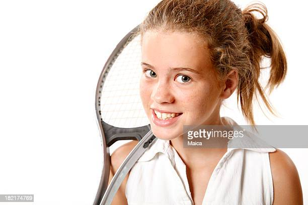 Eleven years old tennis player