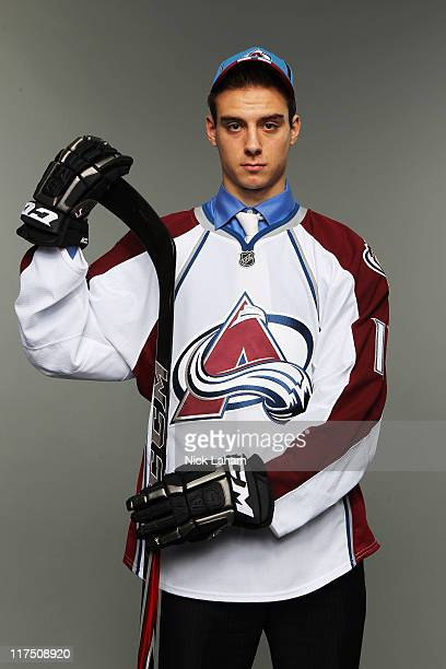 Eleventh overall pick Duncan Siemens by the Colorado Avalanche poses for a portrait during day one of the 2011 NHL Entry Draft at Xcel Energy Center...
