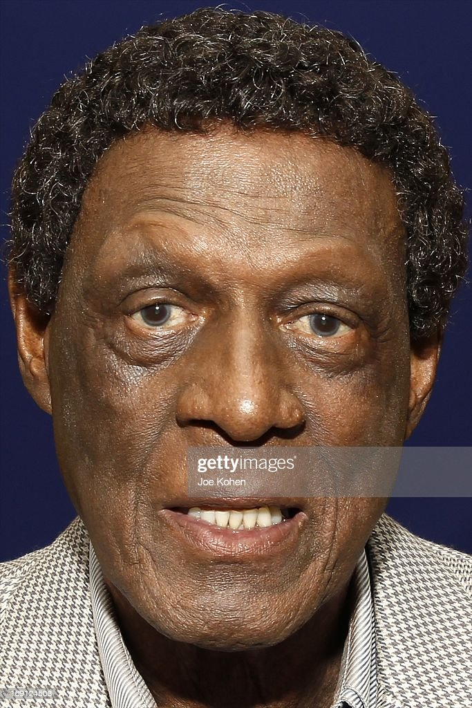 Eleven-Time NBA All-Star Basketball Hall Of Fame Inductee Elgin Baylor poses for a photo during a Collection Media Preview, at Julien's Auctions Gallery on May 20, 2013 in Beverly Hills, California.