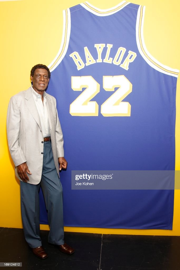 Eleven-Time NBA All-Star Basketball Hall Of Fame Inductee <a gi-track='captionPersonalityLinkClicked' href=/galleries/search?phrase=Elgin+Baylor&family=editorial&specificpeople=630226 ng-click='$event.stopPropagation()'>Elgin Baylor</a> poses for a photo during a Collection Media Preview, at Julien's Auctions Gallery on May 20, 2013 in Beverly Hills, California.