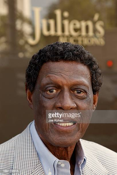ElevenTime NBA AllStar Basketball Hall Of Fame Inductee Elgin Baylor poses for a photo during a Collection Media Preview at Julien's Auctions Gallery...