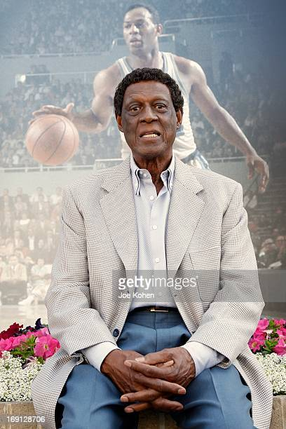ElevenTime NBA AllStar Basketball Hall Of Fame Inductee Elgin Baylor poses for a photo duringa Collection Media Preview At Julien's Auctions at...