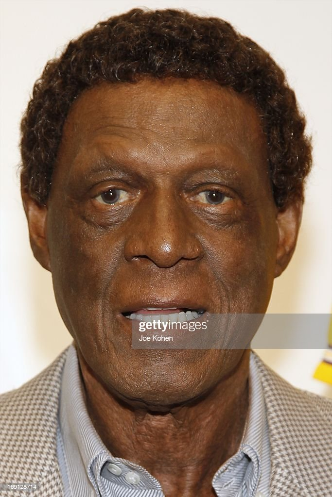 Eleven-Time NBA All-Star Basketball Hall Of Fame Inductee Elgin Baylor poses for a photo duringa Collection Media Preview At Julien's Auctions at Julien's Auctions Gallery on May 20, 2013 in Beverly Hills, California.