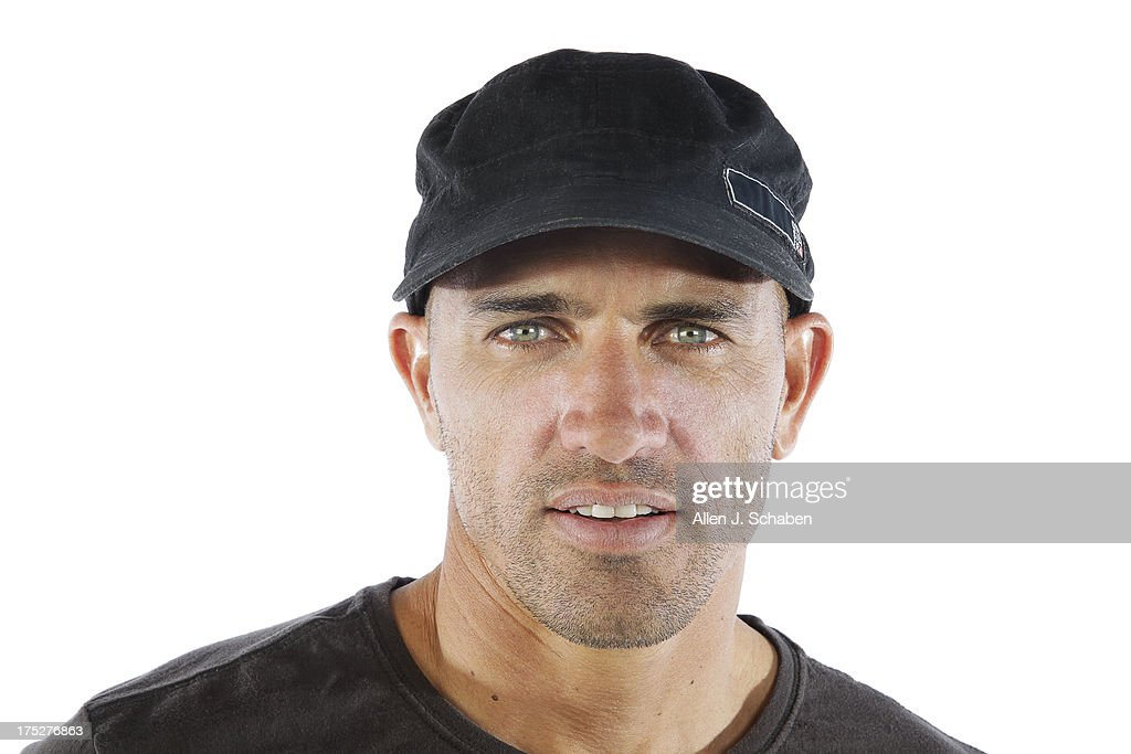 Eleven-time world champion pro surfer Kelly Slater is photographed for Los Angeles Times on July 26, 2013 in Huntington Beach, California. PUBLISHED IMAGE.