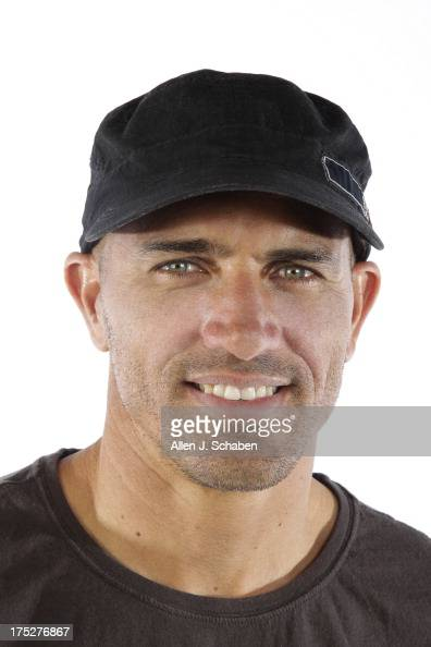 Eleventime world champion pro surfer Kelly Slater is photographed for Los Angeles Times on July 26 2013 in Huntington Beach California PUBLISHED...