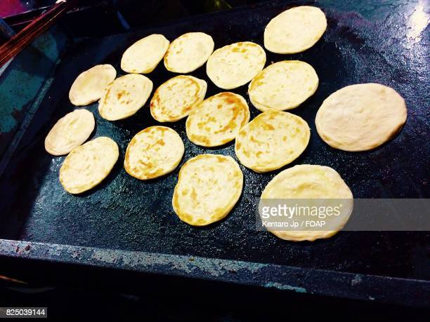 Eleveted view of paratha